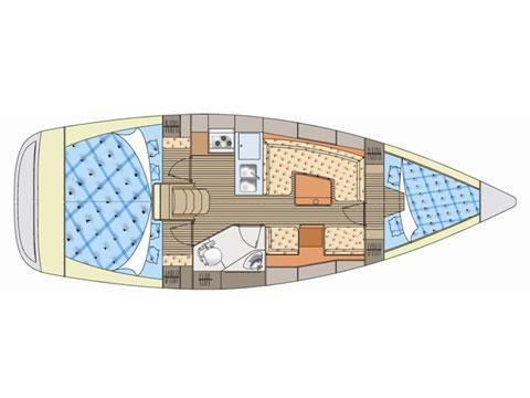 Načrt jadrnice Impression 344 by Elan